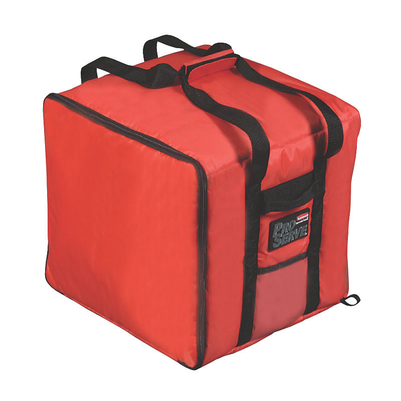 "Rubbermaid FG9F3900RED ProServe Pizza Catering Bag - 19-3/4x19-3/4"" Red"