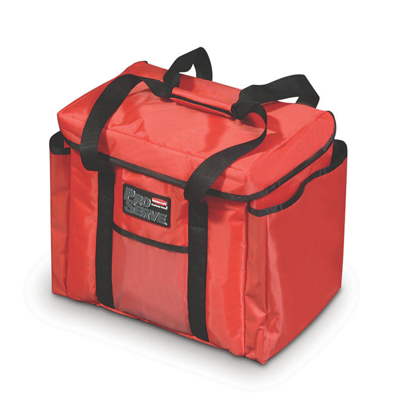 "Rubbermaid FG9F4000RED ProServe Sandwich Delivery Bag - 15x12"" Red"