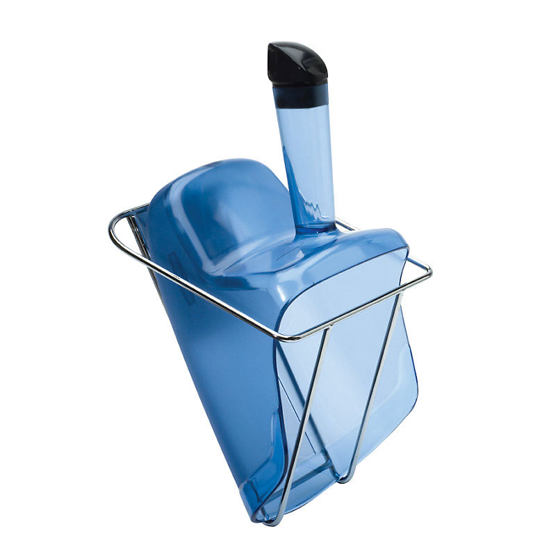 Rubbermaid FG9F5100TBLUE 74-oz Scoop with Hand Guard and Holder - Blue