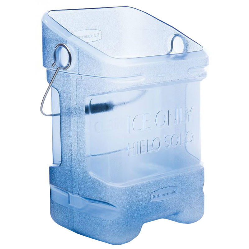 Rubbermaid FG9F5400TBLUE 5-1/2 Gallon Ice Tote Dishwasher Safe NSF Blue Restaurant Supply