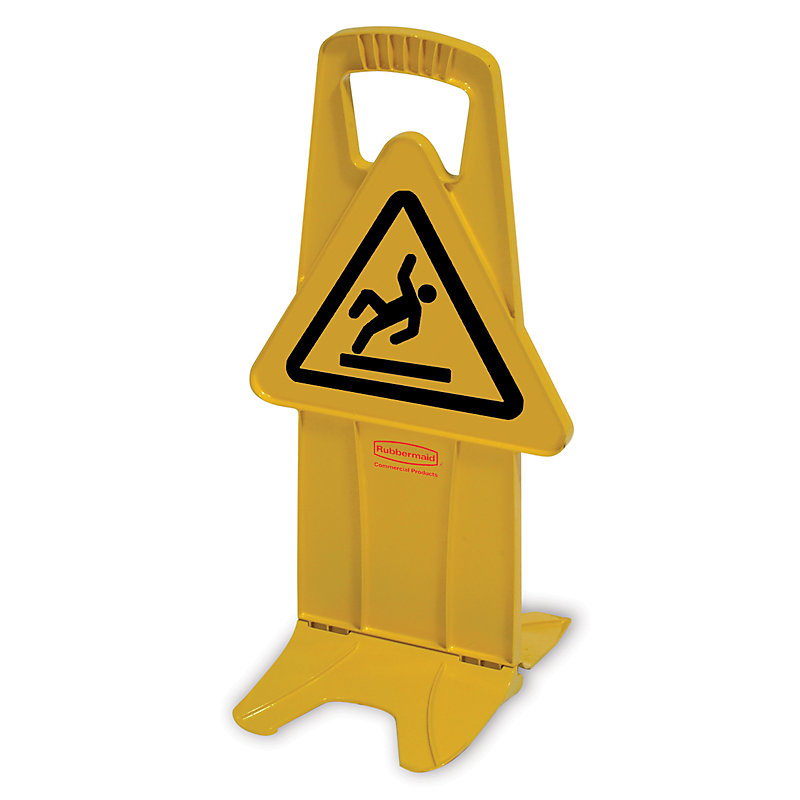 "Rubbermaid FG9S0925YEL Stable Safety Sign - ""Wet Floor"" Symbol, Yellow"