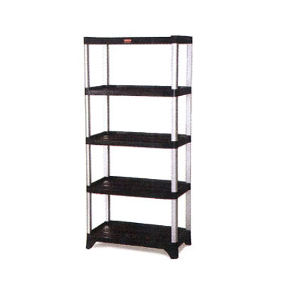 "Rubbermaid FG9T3700BLA 60"" Xtra Shelving Unit - (5) Polymer Shelv"