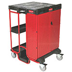 Rubbermaid FG9T5800BLA Ladder Cart with Cabinet - 500-lb Capacity, 31-1/2x27-3/8x42-7/8