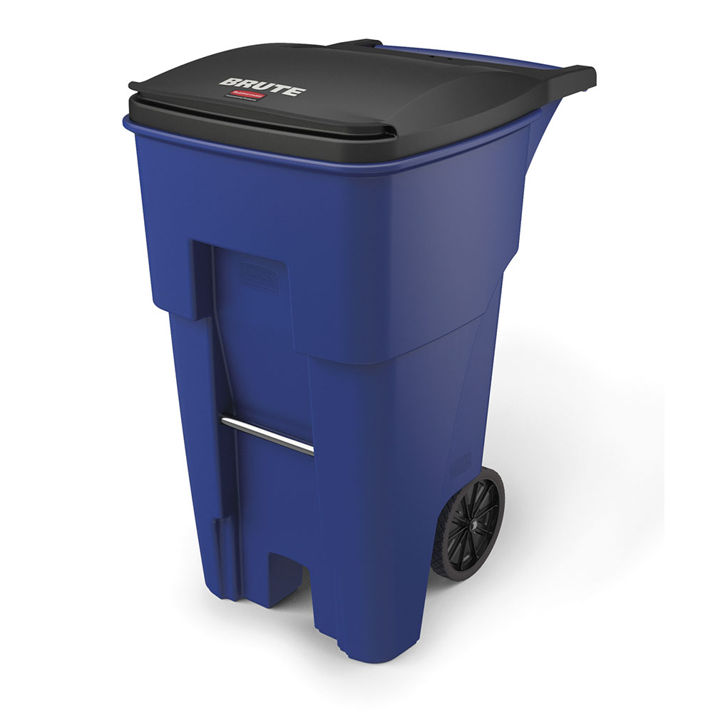 "Rubbermaid FG9W2173BLUE 65-gal BRUTE Rollout Container - 32-1/3x25-1/3x41-4/5"" Blue"