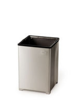 Rubbermaid FGB1424SSRB 24-gal Clean Room Waste Receptacle - Open Top, Stainless