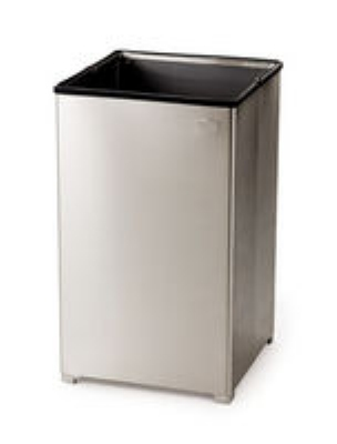 Rubbermaid FGB1940SSPL 29-gal Clean Room Waste Receptacle - Open Top, Rigid Lin