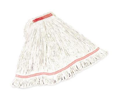 "Rubbermaid FGC25206WH00 Medium Swinger Loop Mop - 5"" Headband, 4-Ply Cotton/Synthetic, White"