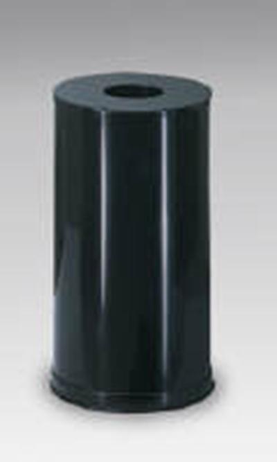 Rubbermaid FGCC16EGLBK 15-gal Waste Receptacle - Galvanized Liner, Black
