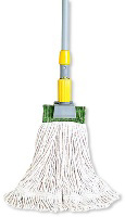 Rubbermaid FGD11306WH00 Large Super Stitch Wet Mop Head - 4-Ply Cotton, 1