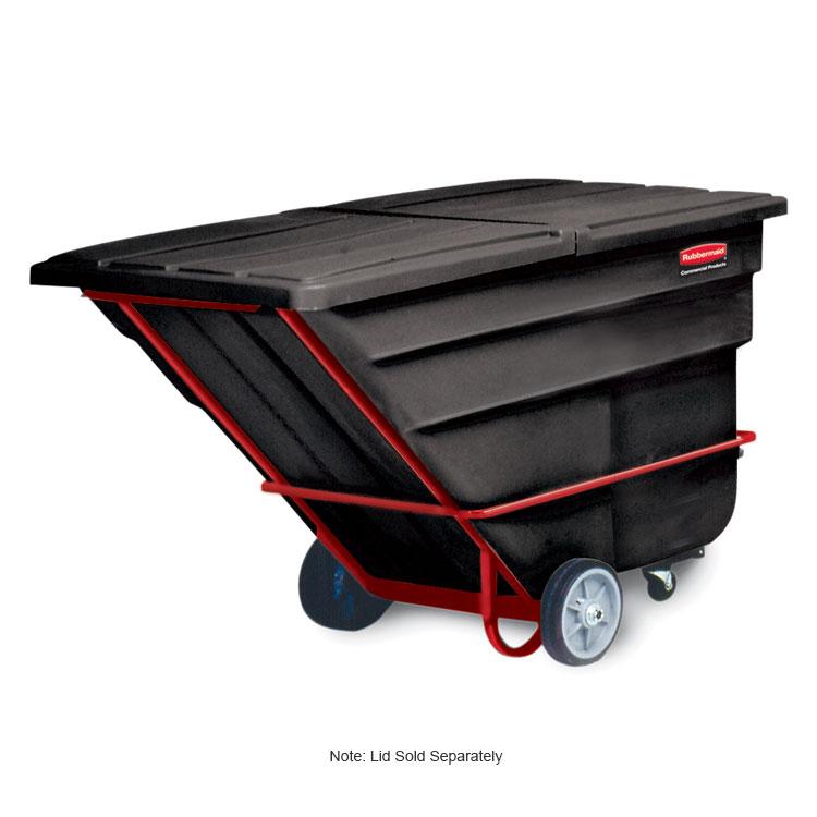 "Rubbermaid FG102600 BLA Tilt Truck - Heavy Duty, 2100-lb Capacity,  80-1/2""x43""x49-1/2"" Black"