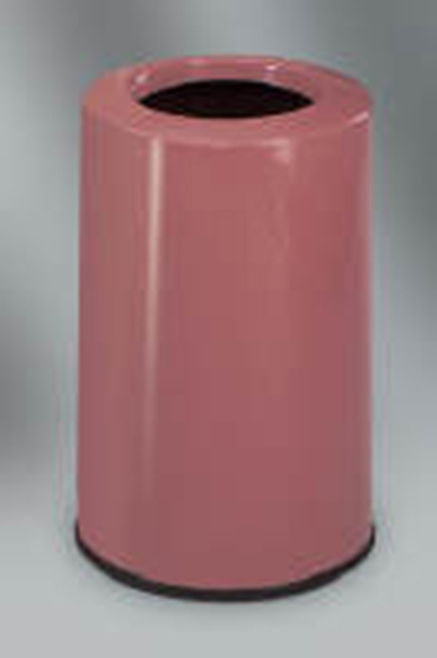 Rubbermaid FG1219LOPLPM 6-1/2-gal Waste Receptacle - Fiberglass, Plum