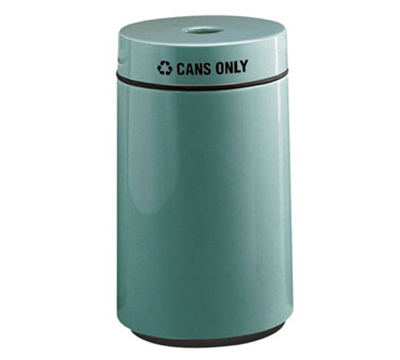 Rubbermaid FG1630CPLDBN 15-gal Can Recycling Receptacle - Fiberglass, Dark Brown