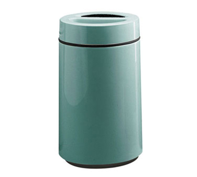 Rubbermaid FG1630SUTPLBGN 32-gal Ash/Trash Receptacle - Sand Urn Top, Fiberglass, Blue Green