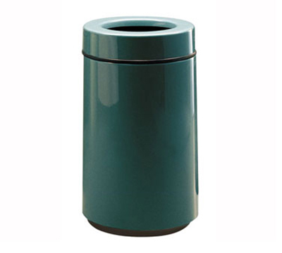 Rubbermaid FG1630TPLFGN 15-gal Waste Receptacle - Open Top, Fiberglass, Forest G