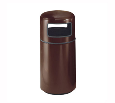 Rubbermaid FG1639PLSGN 15-gal Waste Receptacle - Covered Top, Fiberglass, Sea Green