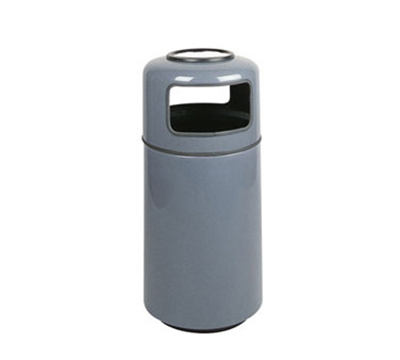 Rubbermaid FG1639SUPLWMG 15-gal Ash/Trash Receptacle - Sand Urn Top, Fiberglass, Warm Gray