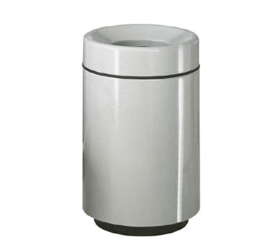 Rubbermaid FGFG2438PLRD 50-gal Waste Receptacle - Open Top, Fiberglass, Red