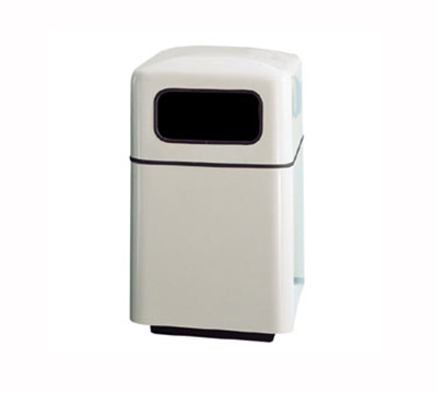 Rubbermaid FGFG2438SQPLMV 40-gal Square Waste Receptacle - Covered Top