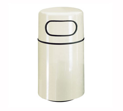 Rubbermaid FG2439DRPLTN Fire Waste Receptacle 32 Gallon 39 in H Plastic Liner In/Out Tan Restaurant Supply
