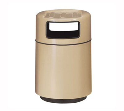 Rubbermaid FGFG2439TRPLEGN 32-gal Foodcourt Waste Receptacle