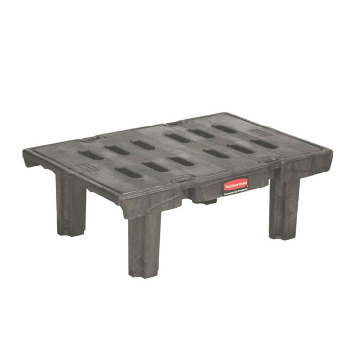 Rubbermaid FG448900BLA Dunnage Rack 24 x 36 in 1500 lb. Capacity Black Restaurant Supply