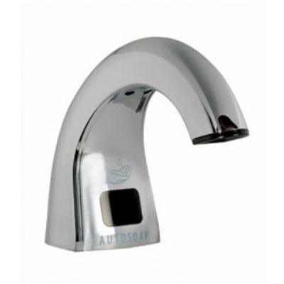 Rubbermaid FG4870465 Liquid Soap Dispenser- 800/1600-ml Refills, Counter-Mounted, Polished Chrome