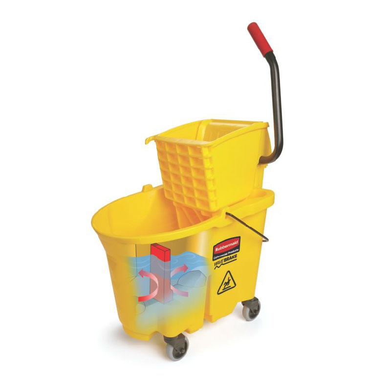 Rubbermaid FG748000YEL WaveBrake Mop/Bucket Wringer System - Yellow