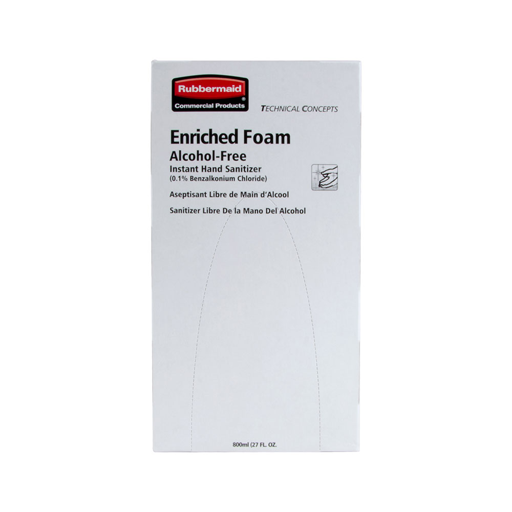 Rubbermaid FG750592 800-ml Hand Sanitizer Refill - Alcohol-Free, Enric
