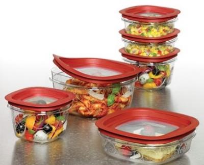 Rubbermaid FG7H79TRCHILI Premier Food Storage Container W/ Lid Restaurant Supply