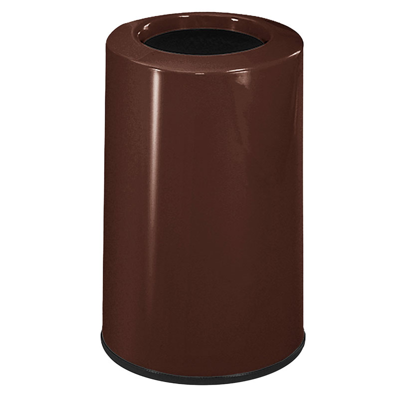 Rubbermaid FG1219LOPLDBN 6-1/2-gal Waste Receptacle - Fiberglass, Dark Brown
