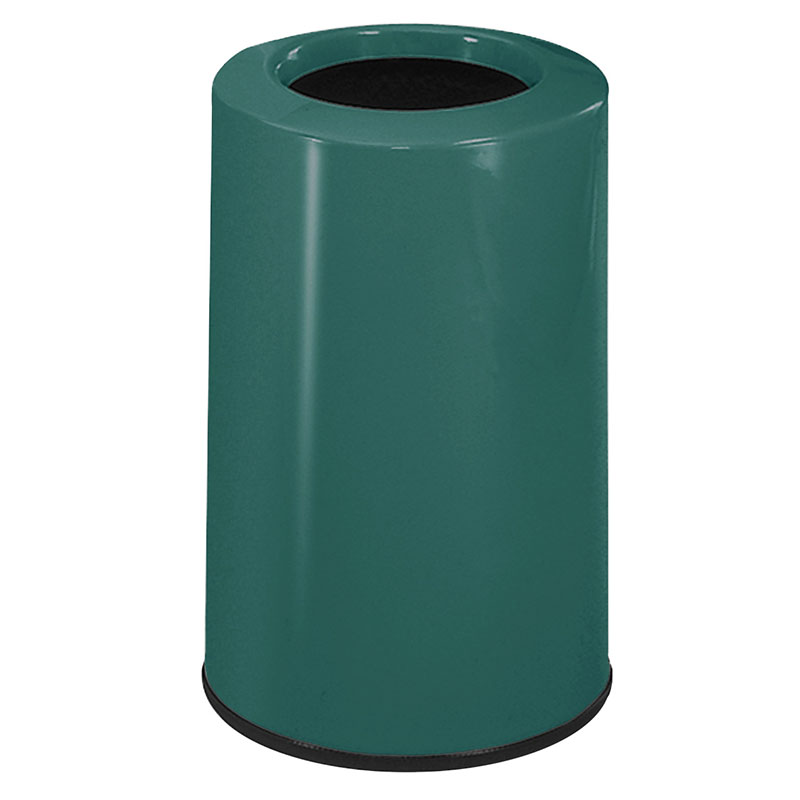Rubbermaid FG1219LOPLFGN 6-1/2-gal Waste Receptacle - Fiberglass, Forest Green