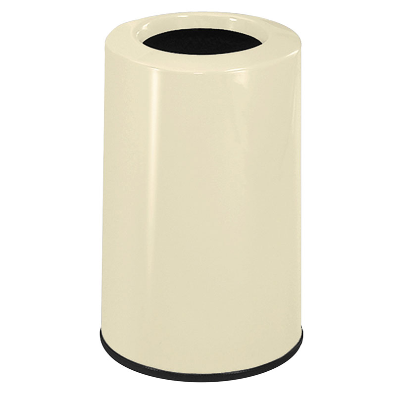 Rubbermaid FG1219LOPLIV 6-1/2-gal Waste Receptacle - Fiberglass, Ivory
