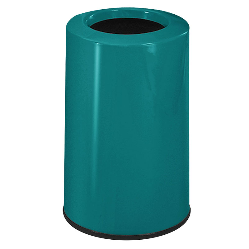 Rubbermaid FG1219LOPLSGN 6-1/2-gal Waste Receptacle - Fiberglass, Sea Gree