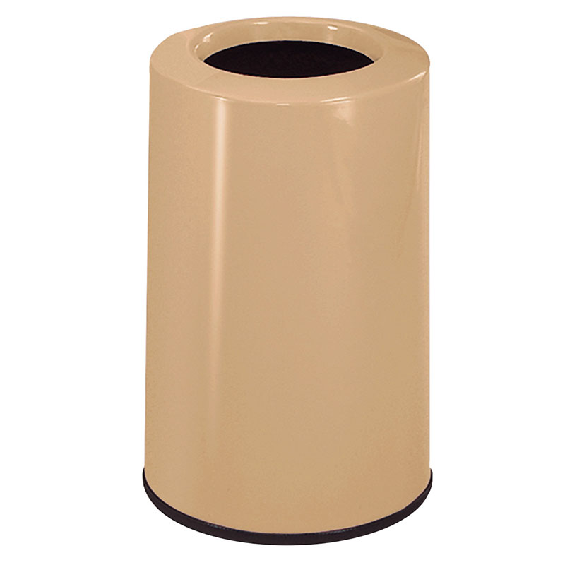 Rubbermaid FG1219LOPLTN 6-1/2-gal Waste Receptacle - Fiberglass, Tan