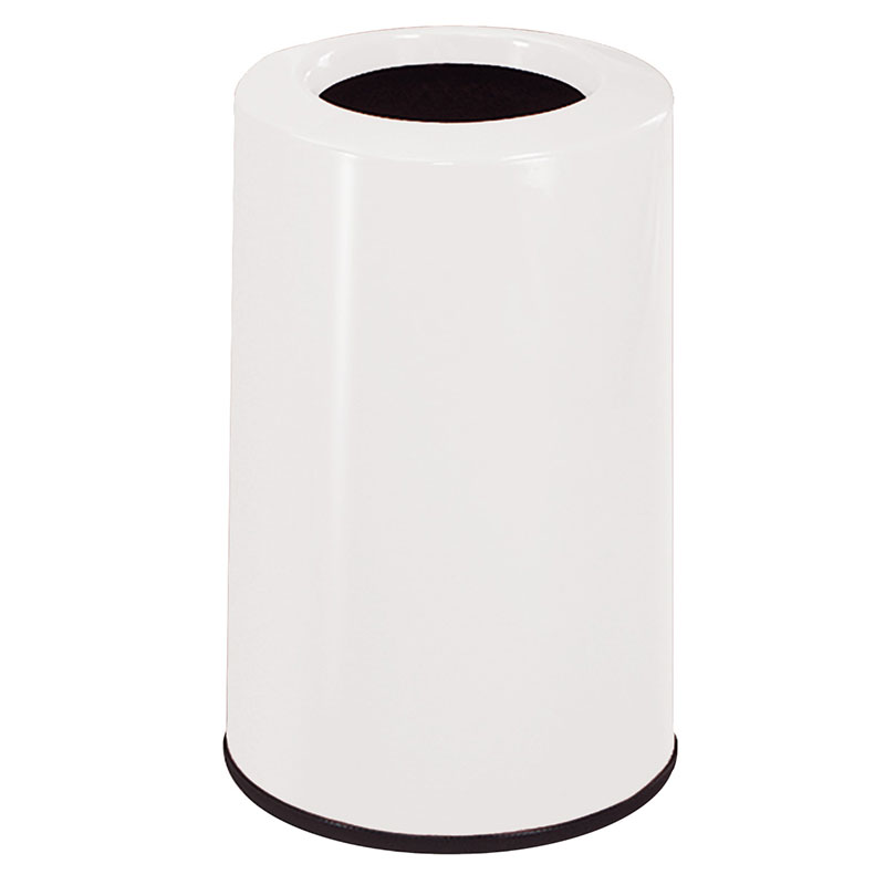 Rubbermaid FG1219LOPLWH 6-1/2-gal Waste Receptacle - Fiberglass,