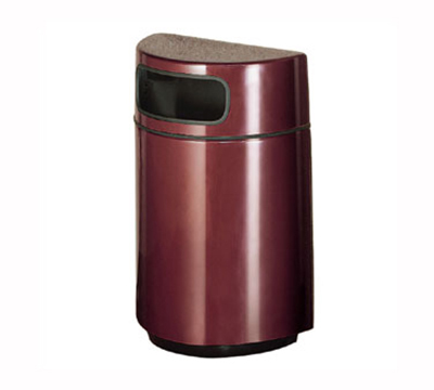 Rubbermaid FGFGH2436PLAL 18-gal Waste Receptacle - Half Ro