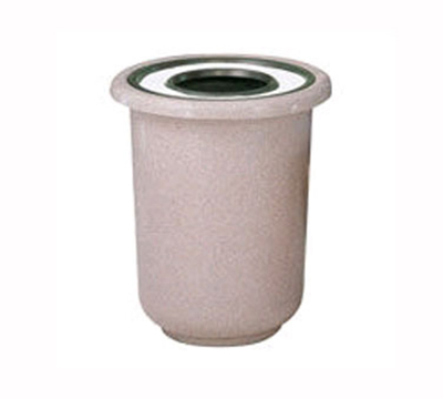 Rubbermaid FGFGL2730GTPLBZ 22-gal Galleria Ash/Trash Receptacle - Sand Top, Fiberglass, Bronze