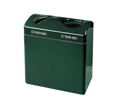 Rubbermaid FGFGR3418TPPLWMG 46-gal Recycling Center - 2-Sec