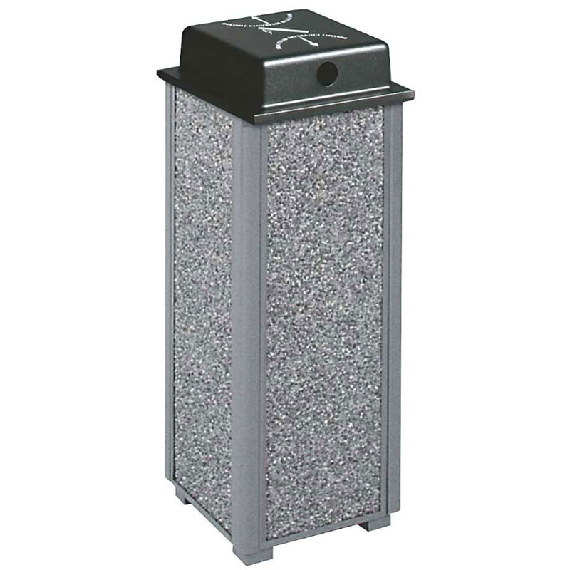 "Rubbermaid FGR40WU500 10"" Dimension Square Weather Urn - Anthracite/Black"