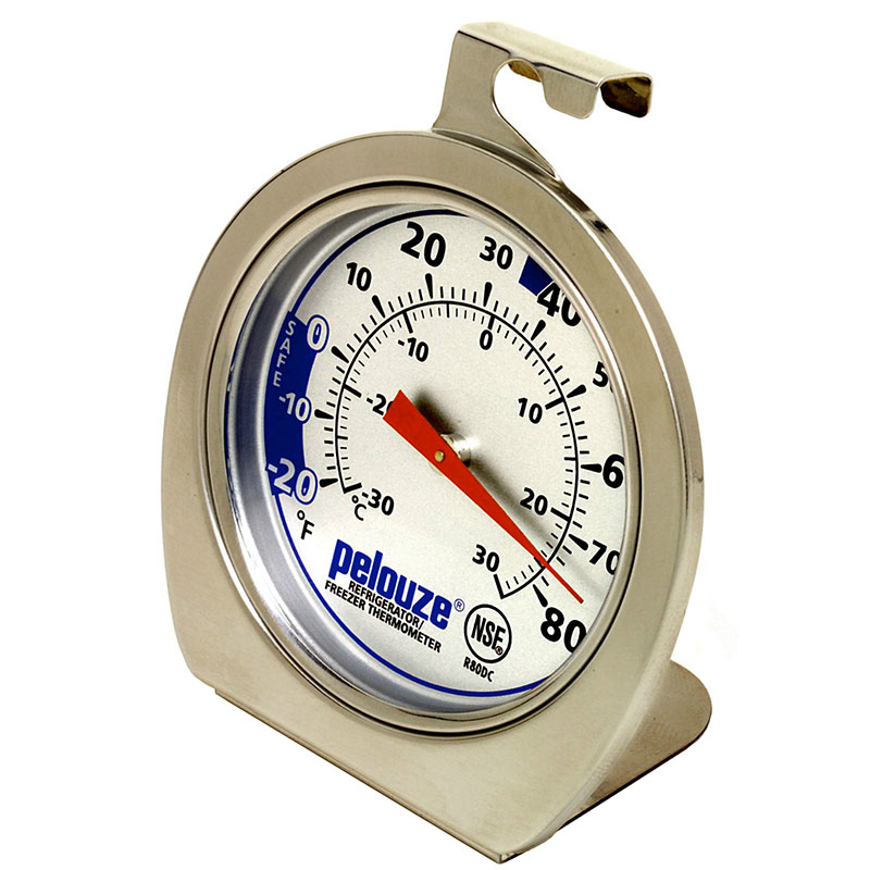 Rubbermaid FGR80DC Refrigerator/Freezer Thermometer - Dial Type, -20 to 80 F