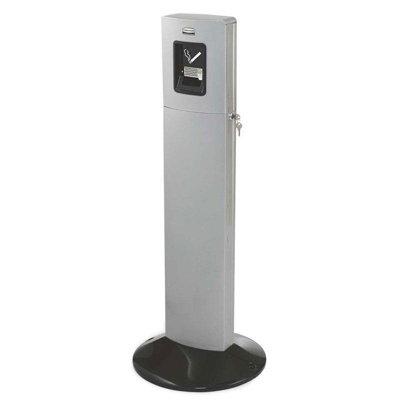 "Rubbermaid FGR93400SM 42.8"" Metropolitan Smokers' Tower - Galvanized Liner, We"
