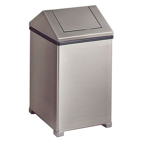 Rubbermaid FGT1414SSRB 14-gal Wastemaster Receptacle - Hing