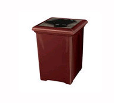 Rubbermaid FGFGT2433SQPLWMB 34-gal Tuscany Waste Receptacle - Square, Fiberglass, Warm