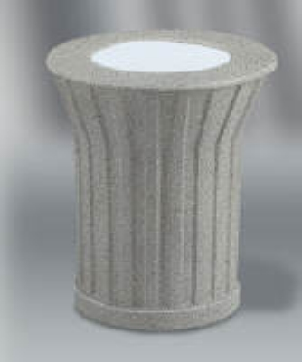 "Rubbermaid FGKSM107000 20"" Keystone Urn - Gray with Gray Concrete"