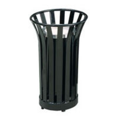 Rubbermaid FGMT12GLVSGN 24-gal American Trash Receptacle - Sand Urn Top, Steel Slat, Green