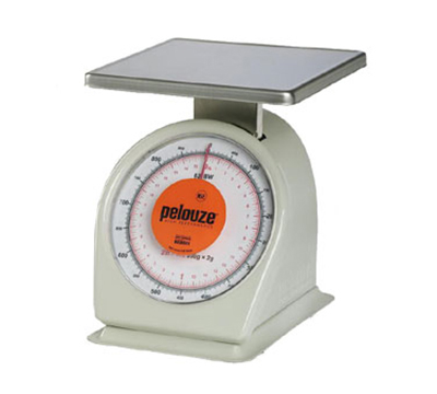 Rubbermaid FG832BW Pelouze Portion Scale - Dial Type, 32-oz x 1/8-oz/900g x 2-g, Orange Lens