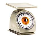 Rubbermaid FG832SRW Pelouze Portion Scale - Dial, 32-oz x 1/8-oz, Orange Lens, Dishwasher Safe