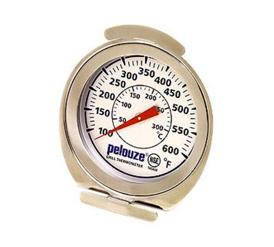 Rubbermaid FGTHG600 Grill Thermometer - Dial Type with Stand, 100 to 600 F Stainless