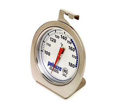 Rubbermaid FGTHW180 Warming Thermometer - Dial Type with Stand, 100 to 180 F Stainless