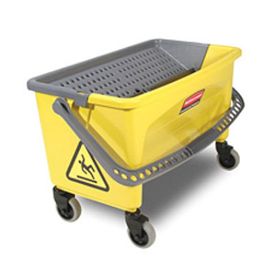 Rubbermaid FGQ90088YEL Microfiber Press Wring Bucket - Yellow